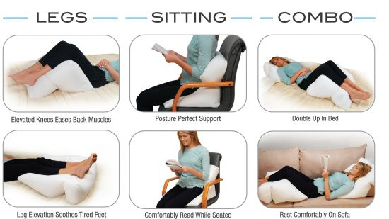 Contour Flip Pillow Bed Wedge, Other Comfy Poses